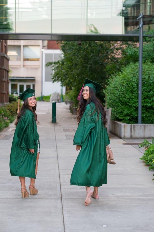 College Graduation Photo on University Campus stock photos