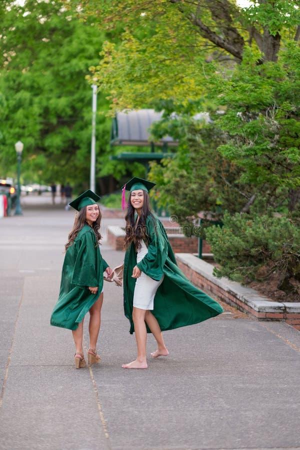 College Graduation Photo on University Campus stock photo