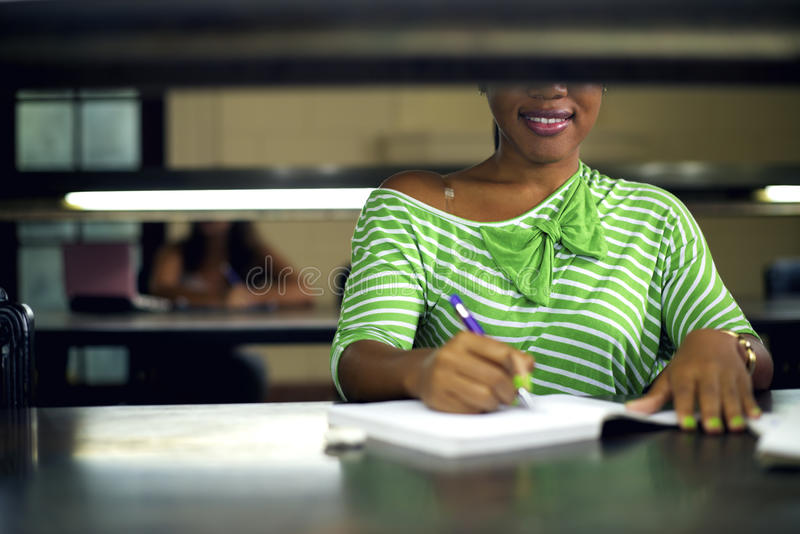 Download College Library And Female Student Stock Photo - Image of high, education: 30812494