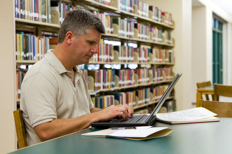 Download College Library Laptop stock photo. Image of middle, stacks - 26745944