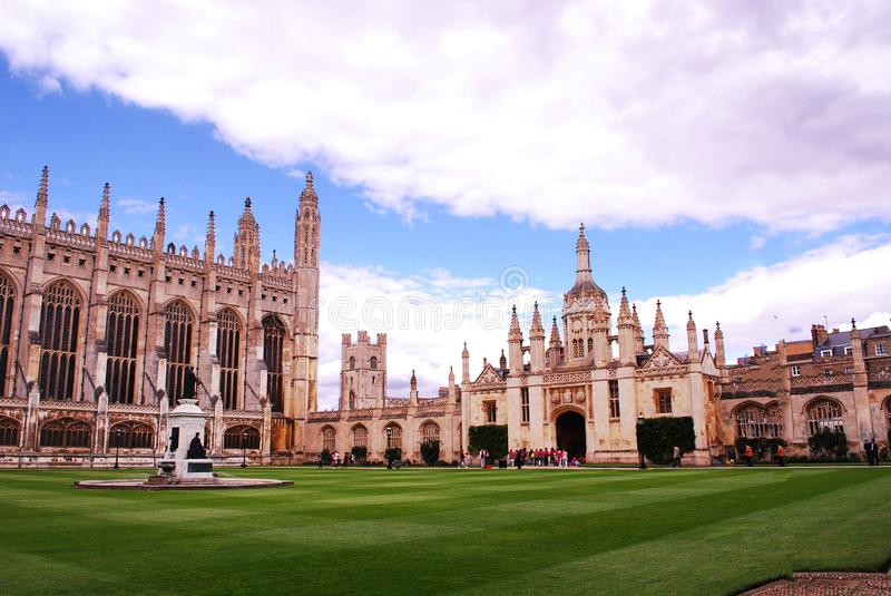 King`s College Cambridge,a constituent college of the University of Cambridge in England. The college lies beside the River Cam and faces out onto King`s Parade stock photos