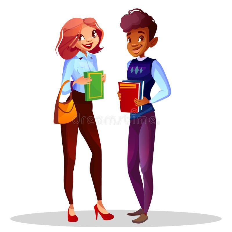 College- oder Hochschulstudentvektorillustration lizenzfreie abbildung