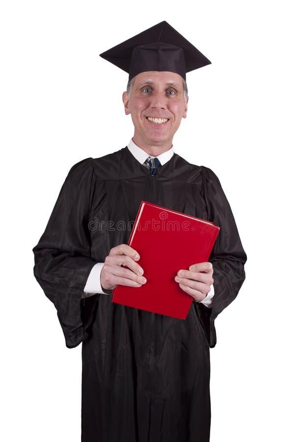 College Professor Teacher Smiling Isolated, Book stock photos