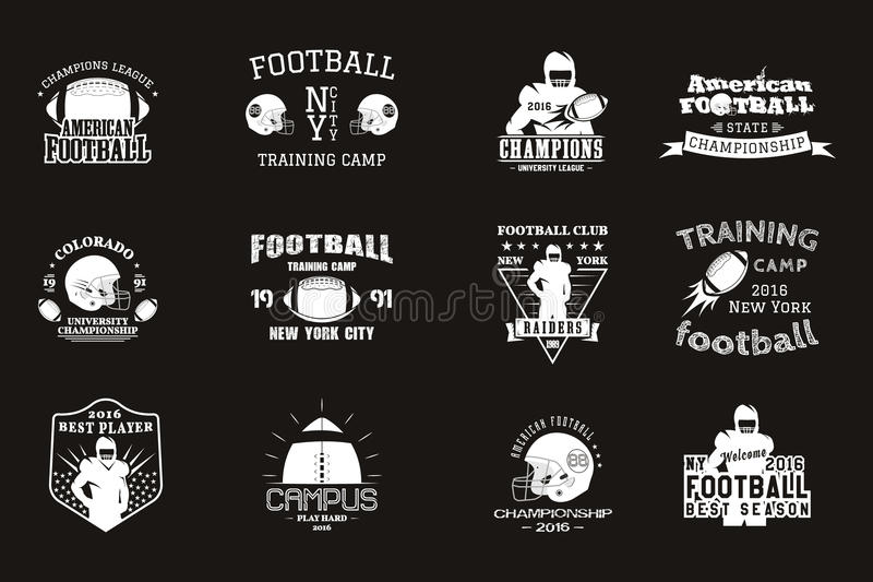 College rugby and american football team, campus royalty free illustration