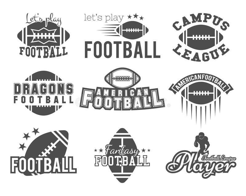 College rugby and american football team, college vector illustration