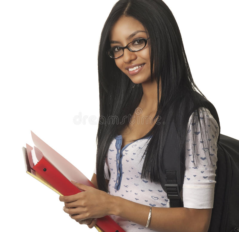 College school student smiling happily