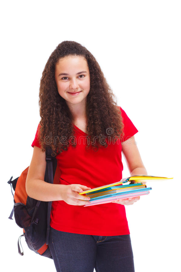 Download College student stock image. Image of little, slim, happy - 26342699