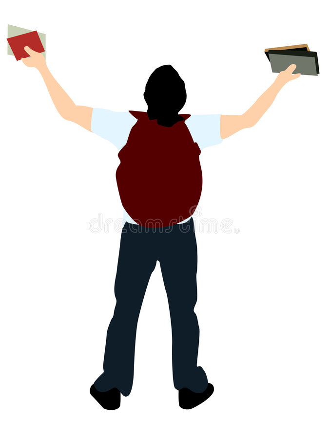 Download College student with books stock illustration. Image of body - 7418882