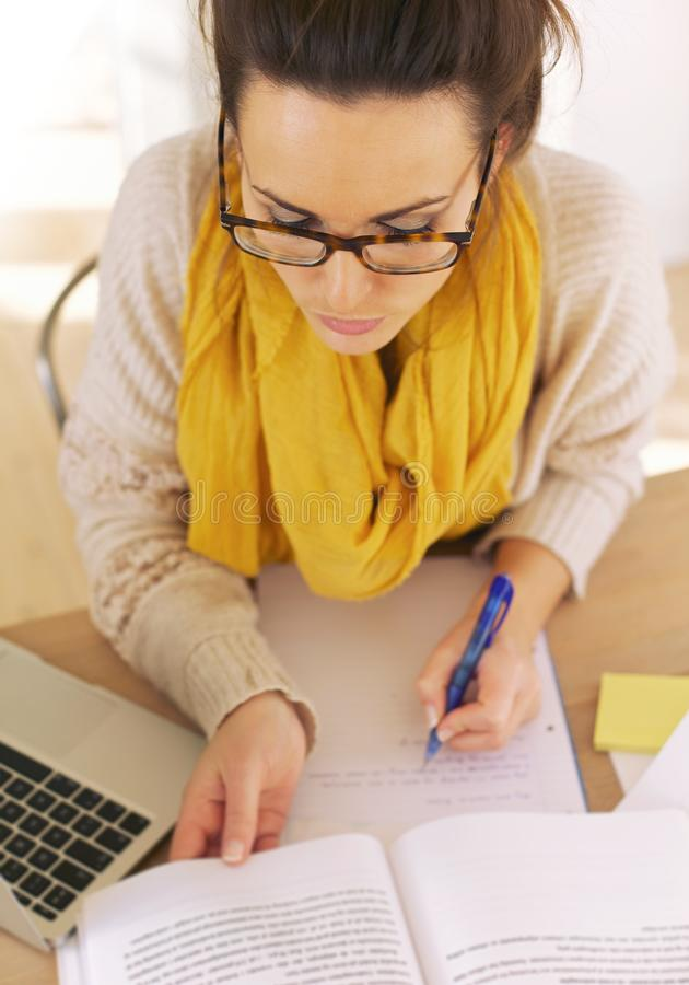 Download College Student Busy With Research Stock Image - Image: 29440121