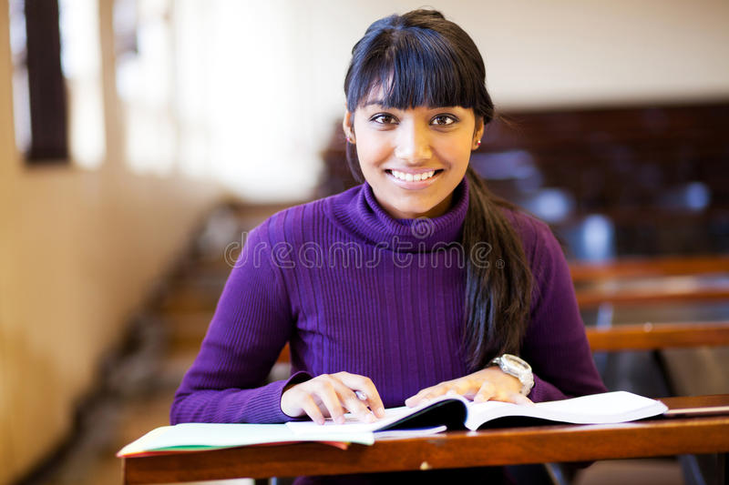 College student in classroom