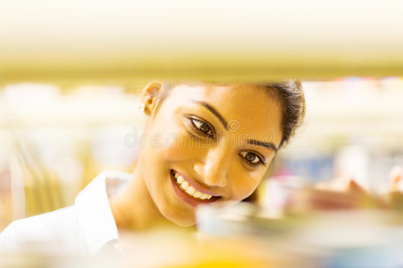 College student in library royalty free stock photo