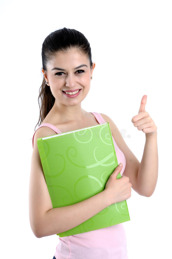 College student smiling stock images