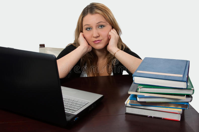 College Student studying royalty free stock image