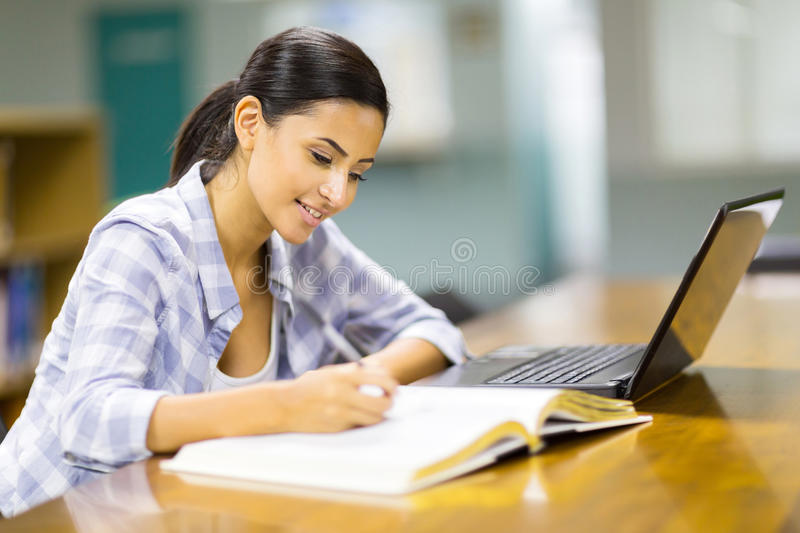 Download College student studying stock photo. Image of book, computer - 39108012