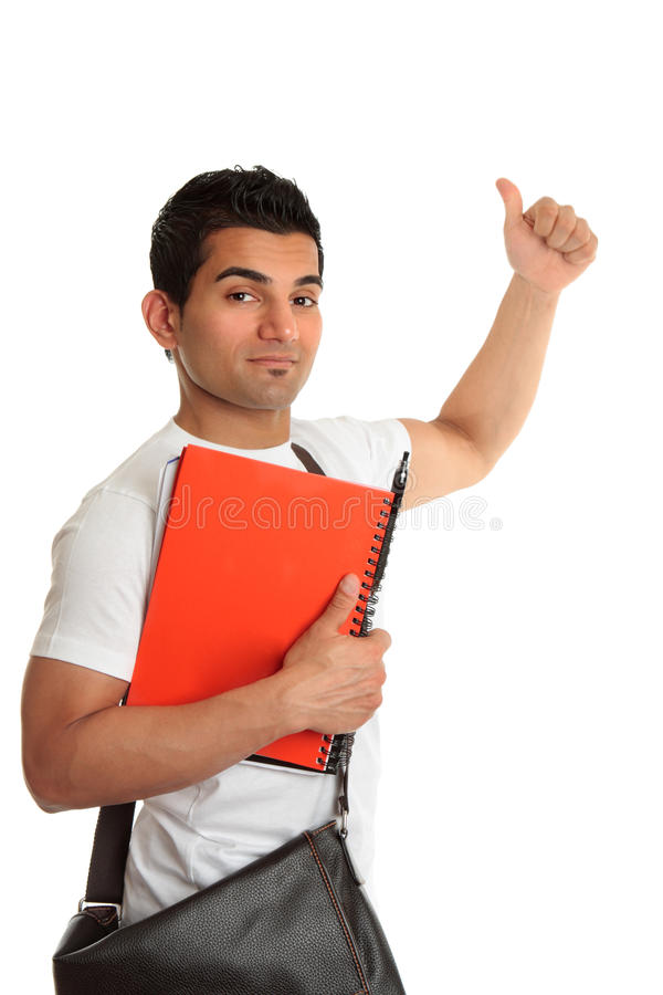 Download College student thumbs up stock photo. Image of middle - 13733386