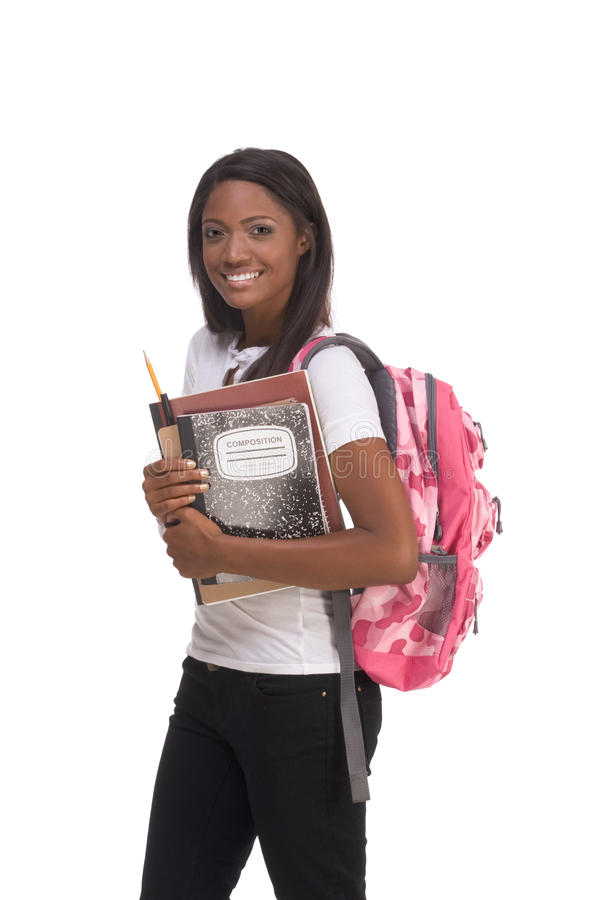 Free College Student Young African American Woman Royalty Free Stock Photography - 12340167