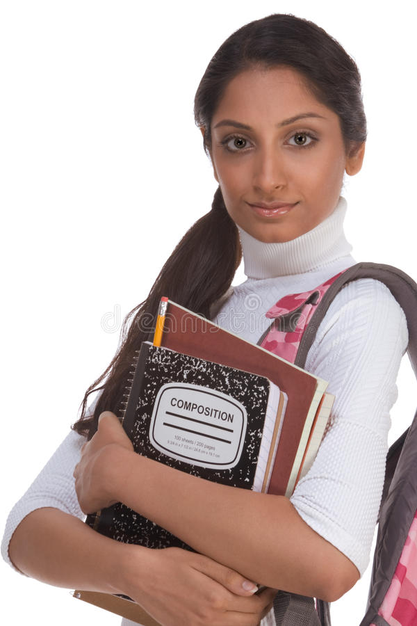 Free College Student Young Indian Woman With Backpack Royalty Free Stock Photography - 12339237