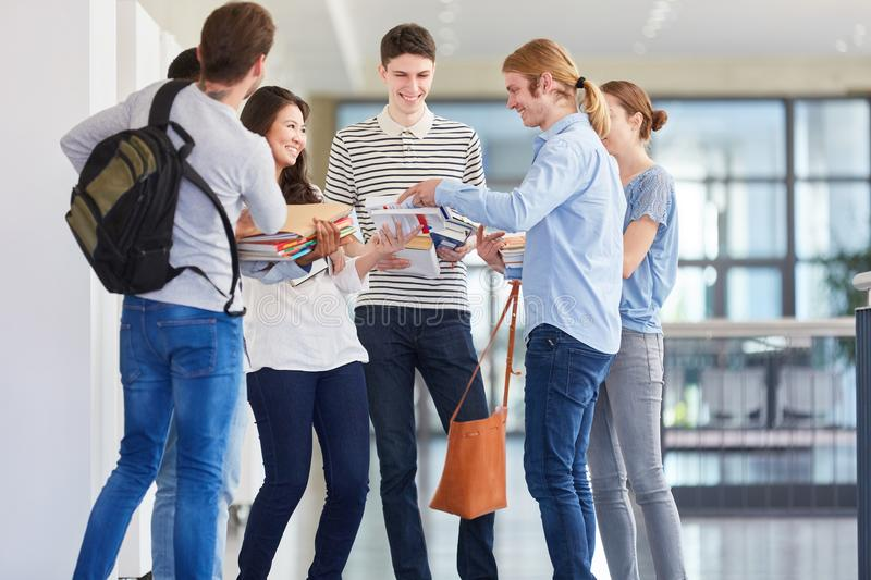 College students as a team royalty free stock images