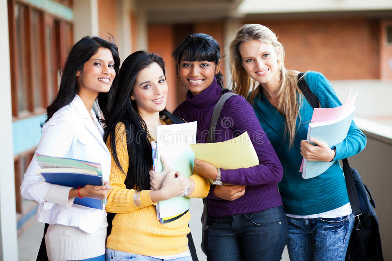 College students group stock images