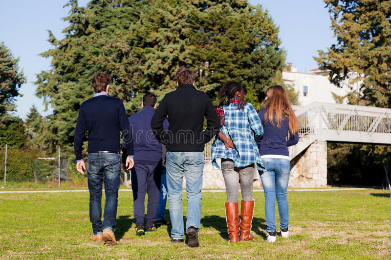 College Students on Relax stock photography