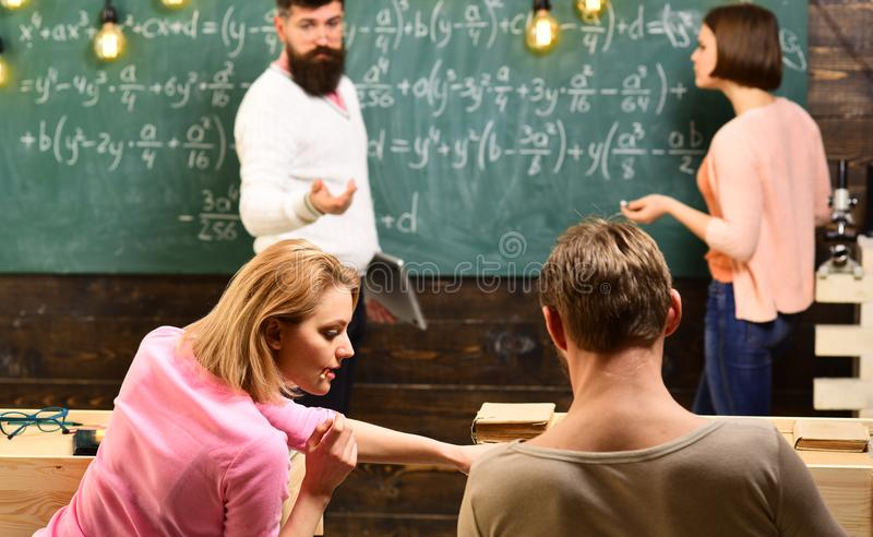 College Students Teamwork Concept. university education concept. royalty free stock image