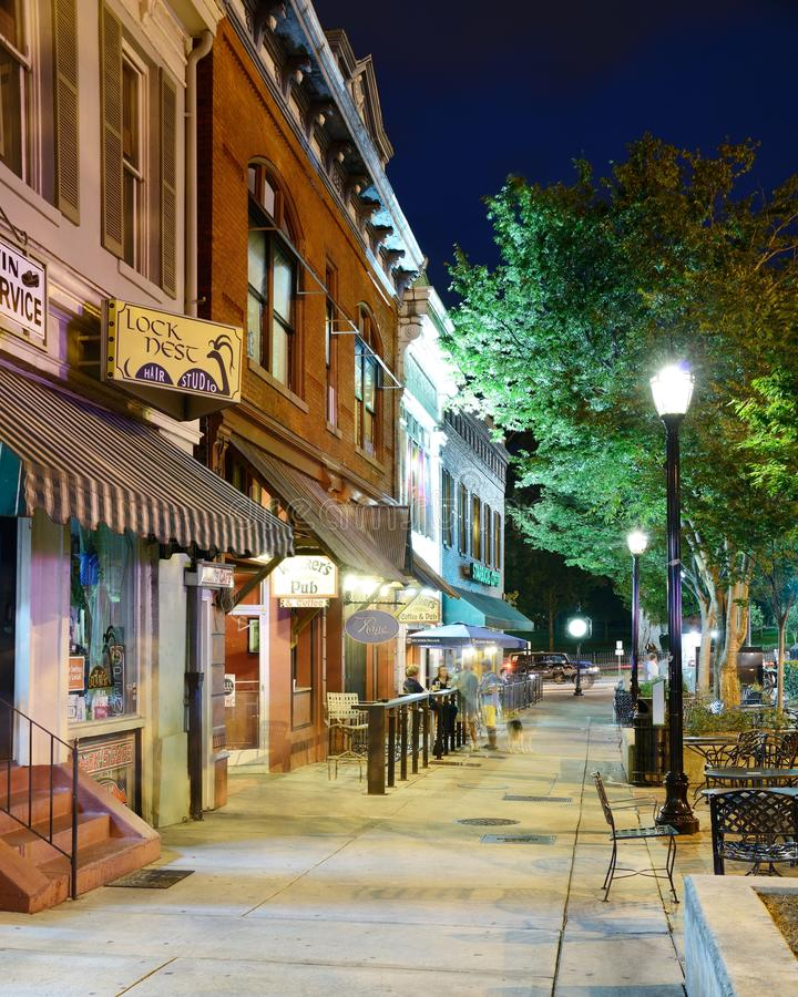 Download College Town Sidewalk Editorial Stock Image - Image: 26363349