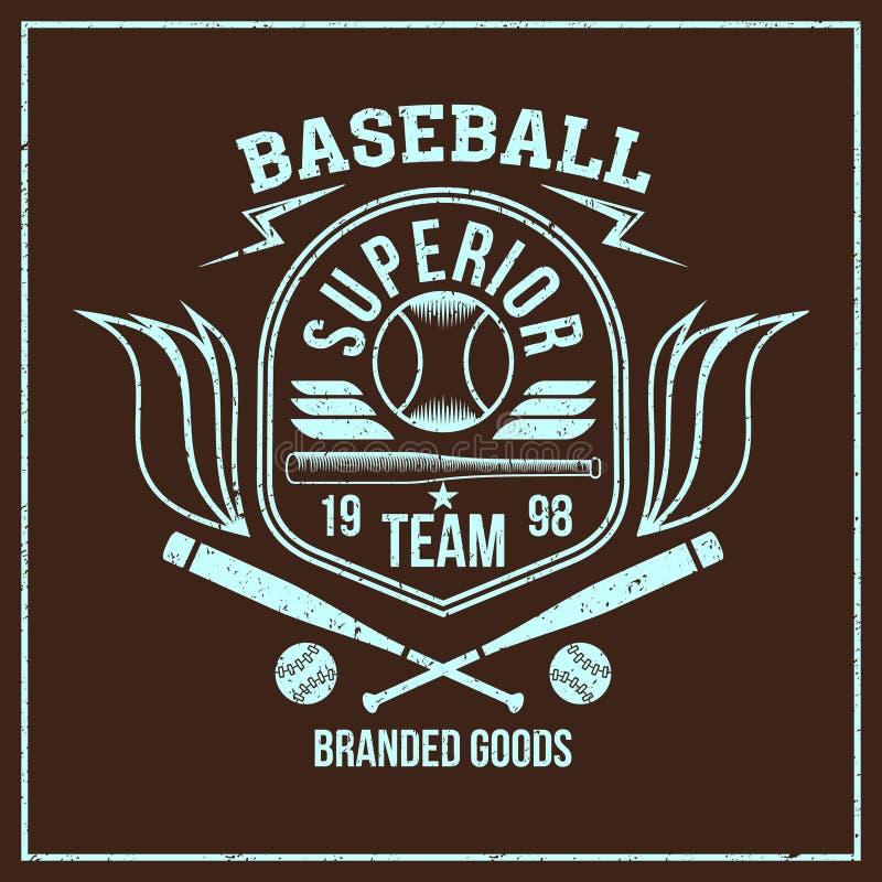 CollegeBaseballteamsemblem lizenzfreie abbildung