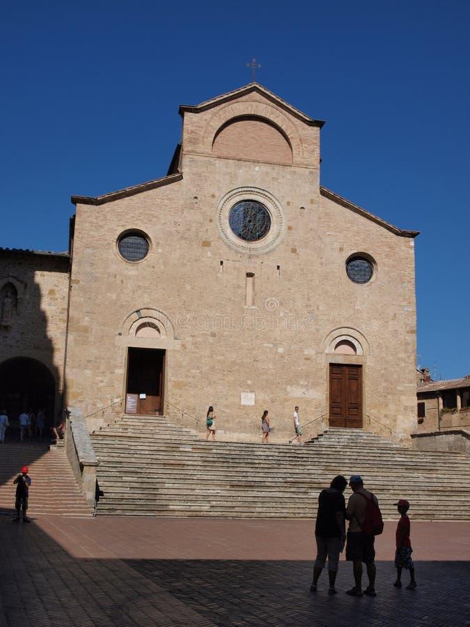 Collegekirche in San Gimignano, Italien lizenzfreie stockfotografie