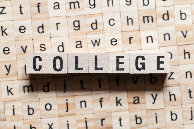 Collegewortkonzept stockfoto