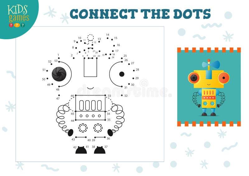 Colleghi illustrazione di vettore del gioco dei bambini dei punti la mini Attivit? connessa con l'istruzione dei bambini in et? p illustrazione di stock