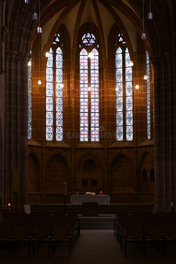 Collegiale Kerk van St Martin en St Mary Kaiserslautern stock afbeeldingen
