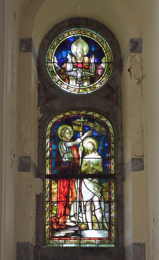 Collegiale St Martin e san-Hadelin o chiesa di St Martin del vice fotografia stock