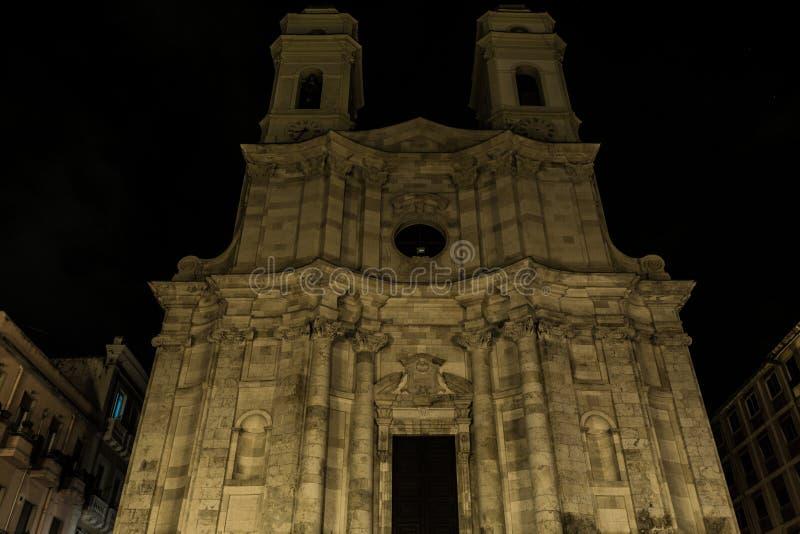 Collegiata di Sant `Anna, famous church in Cagliari, Sardinia, It stock image