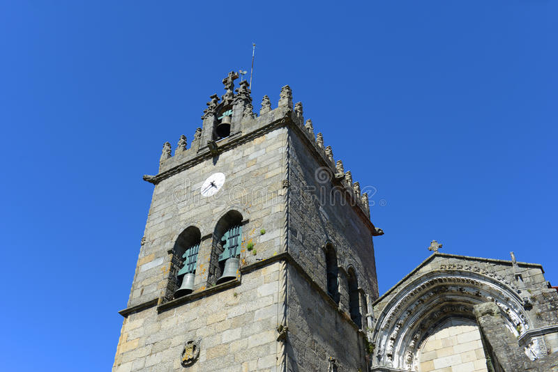 Collegiate Church, Guimarães, Portugal royalty free stock photo
