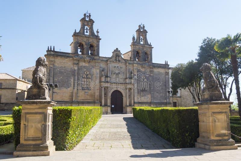 Collegiate Church of Santa Maria de los Reales Alcazares, Ubeda, Jaen Province, Andalusia, Spain royalty free stock photography