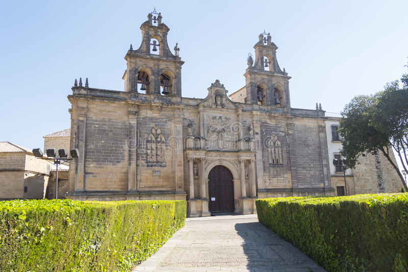 Collegiate Church of Santa Maria de los Reales Alcazares, Ubeda, Jaen Province, Andalusia, Spain stock images
