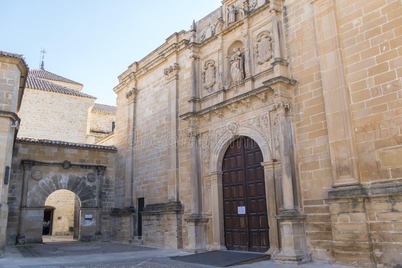Collegiate Church of Santa Maria de los Reales Alcazares, Ubeda, Jaen Province, Andalusia, Spain stock image