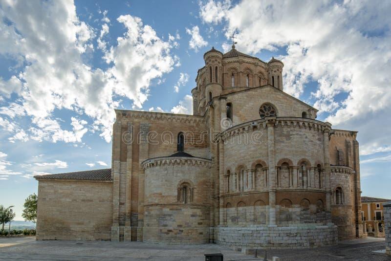 Collegiate church of Santa Maria Maggiore in bull province of Zamora, Spain. Toro, Zamora, Spain August 2015: Colegiata de Santa María la Mayor de Toro is a royalty free stock photos