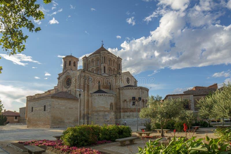 Collegiate church of Santa Maria Maggiore in bull province of Zamora, Spain. Toro, Zamora, Spain August 2015: Colegiata de Santa María la Mayor de Toro is a stock photography