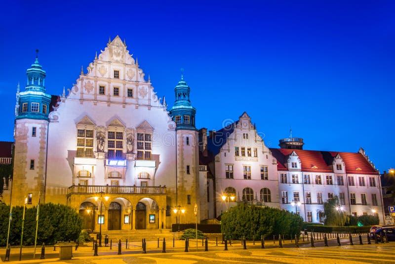 Collegiumminus van Adam Mickiewicz University in Poznan, Polen stock fotografie