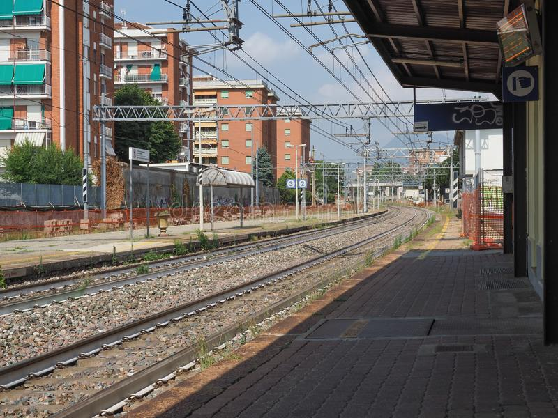 Collegno-Bahnhof in Collegno lizenzfreie stockfotografie