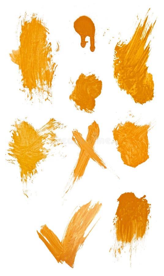 collegtion脏的油漆冲程 库存图片