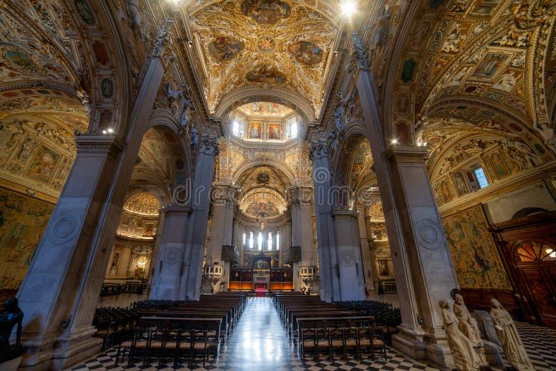 Colleoni Chapel in Bergamo stock images