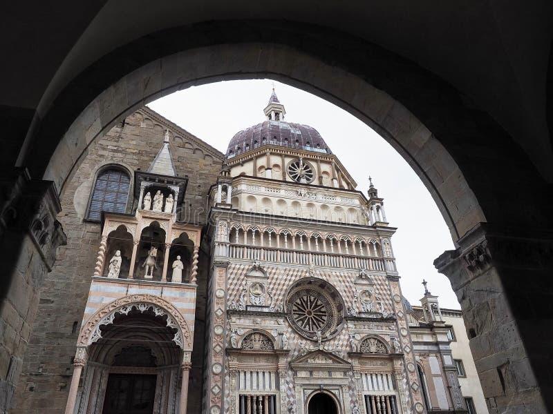 Colleoni kapell, Citta Alta Bergamo, Lombardy, Italien royaltyfria bilder