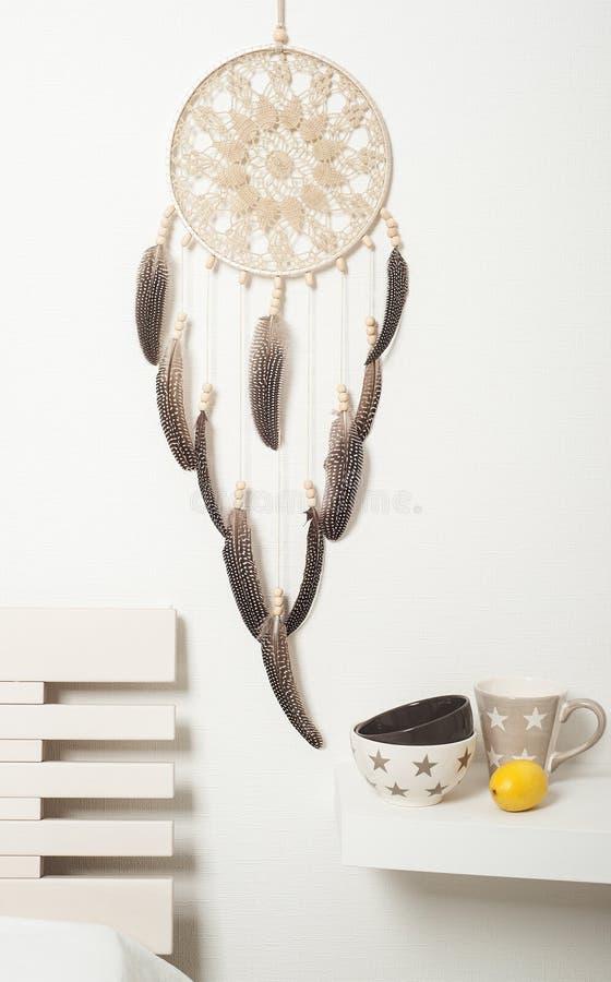 Collettore di sogno marrone beige immagine stock