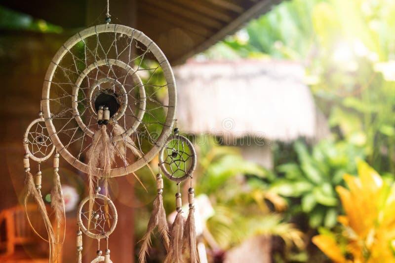 Collettore di sogno in un giardino magico di balinese Isola di Bali immagine stock