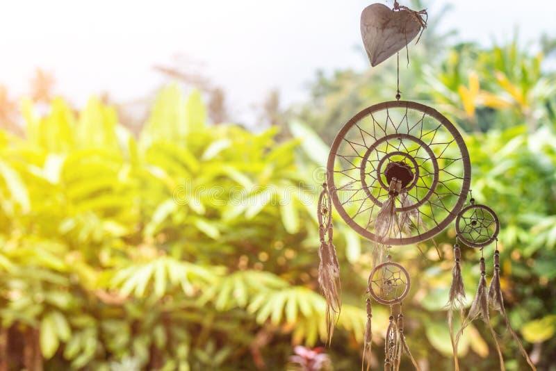 Collettore di sogno in un giardino magico di balinese Isola di Bali fotografie stock