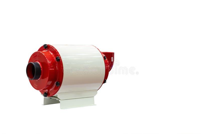 Collettore o depuratore d'aria a alta tecnologia e moderno della foschia dell'olio per fabbricazione industriale isolato su fondo fotografia stock