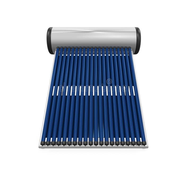 Collettore solare del condotto termico illustrazione di stock