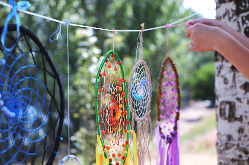 Collettori di sogno Talismano dell'amuleto del nativo americano fotografie stock